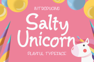 Print on Demand: Salty Unicorn Display Font By letterhend 1