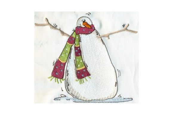 Sassy Chilly Snowman Winter Embroidery Design By Sew Terific Designs