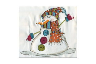 Sassy Melting Snowman Winter Embroidery Design By Sew Terific Designs