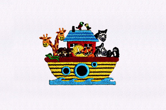 Ship Full of Animals Animals Embroidery Design By DigitEMB
