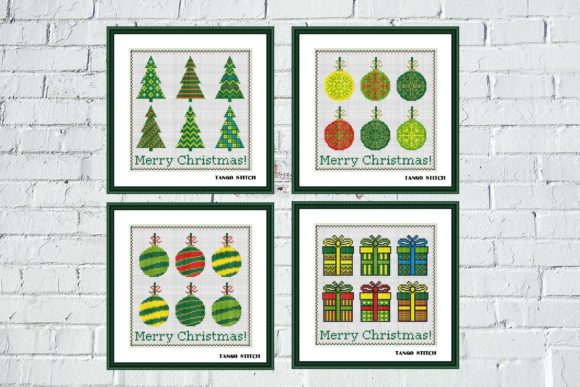 Simple Christmas Cross Stitch Patterns Graphic Cross Stitch Patterns By Tango Stitch