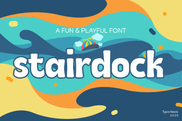 Print on Demand: Stairdock Display Font By Typia Nesia
