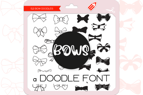 Print on Demand: The Bows Dingbats Font By WADLEN