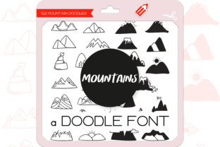 Print on Demand: The Mountains Dingbats Font By WADLEN