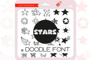 Print on Demand: The Stars Dingbats Font By WADLEN