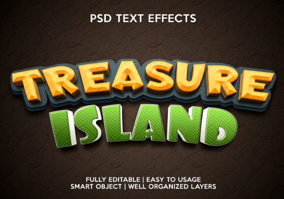 Treasure Island Text Effect Graphic Graphic Templates By gilangkenter