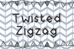 Print on Demand: Twisted Zigzag Display Font By nuraisyahamalia1729