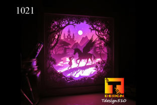 Unicorn Paper Cut Light Box Shadow Box Graphic 3D Shadow Box By Tdesign510