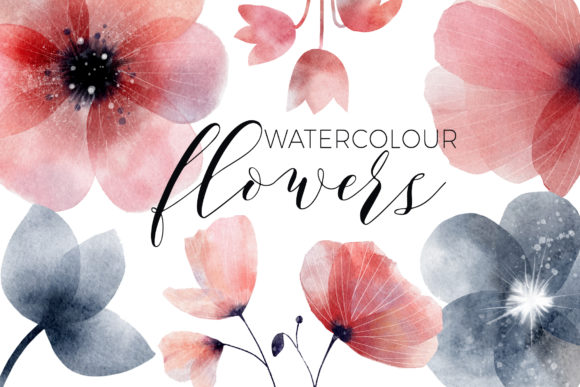 Print on Demand: Whimsical Spring Florals Watercolor Graphic Illustrations By Busy May Studio