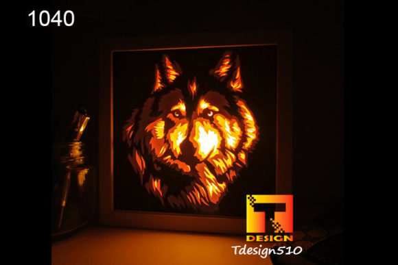 Wolf Paper Cut Light Box Shadow Box 3D Graphic 3D Shadow Box By Tdesign510