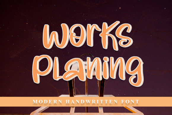 Print on Demand: Works Planing Script & Handwritten Font By NYA Letter