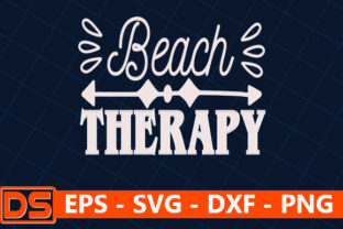 Print on Demand: Beach Svg Design,Beach Therapy Graphic Print Templates By Star_Graphics