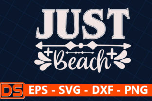 Print on Demand: Beach Svg Design,Just Beach, Graphic Print Templates By Star_Graphics