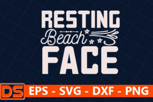 Print on Demand: Beach Svg Design,Resting Beach Face Graphic Print Templates By Star_Graphics