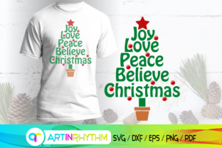 Christmas Tree Svg, Love Joy Piece Svg Graphic Crafts By artinrhythm