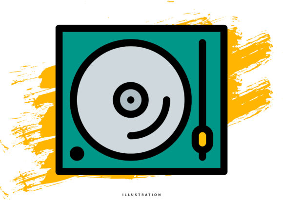 Disc Player Graphic Illustrations By hello.cluk7
