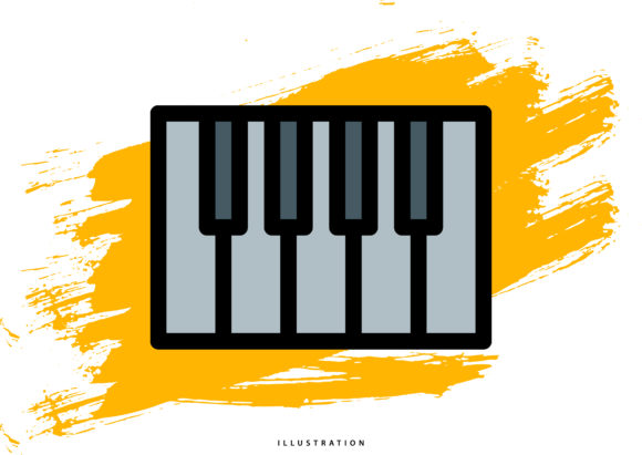 Keyboard Graphic Illustrations By hello.cluk7