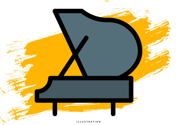 Piano Graphic Illustrations By hello.cluk7