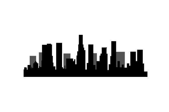 los angeles skyline silhouette svg cut file by creative fabrica crafts ·  creative fabrica  creative fabrica