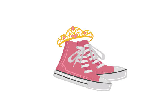 Shoes with Tiara Designs & Drawings Craft Cut File By Creative Fabrica Crafts