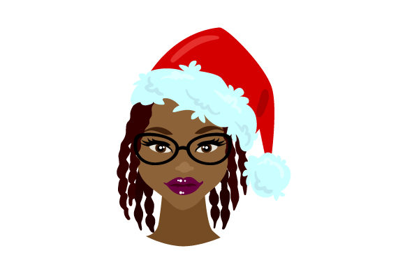 Mrs Claus with Dreadlocks Christmas Craft Cut File By Creative Fabrica Crafts