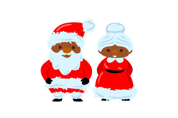 Mr and Mrs Claus Christmas Craft Cut File By Creative Fabrica Crafts