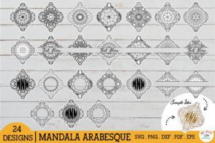 Arabesque Mandala Bundle Monogram SVG Graphic Crafts By redearth and gumtrees