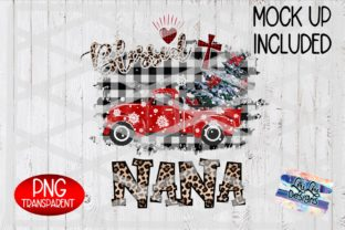 Print on Demand: Blessed Nana Christmas Truck Sublimation Graphic Illustrations By Lori Lou Designs