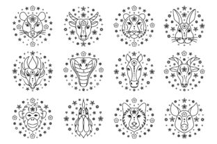 Chinese Zodiac Signs Graphic Illustrations By fatamorganaoptic