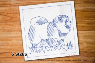 Chow Chow Dog Dogs Embroidery Design By Redwork101