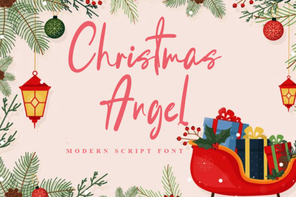 Print on Demand: Christmas Angel Script & Handwritten Font By Display Letter