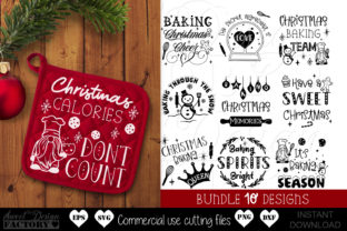 Print on Demand: Christmas Pot Holder Graphic Crafts By SweetDesignFactory