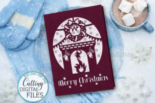 Christmas Card Papercut Laser Cut Graphic Crafts By Cornelia