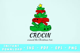 Print on Demand: Crocin Around the Christmas Tree Graphic Illustrations By HappyDesignStudio