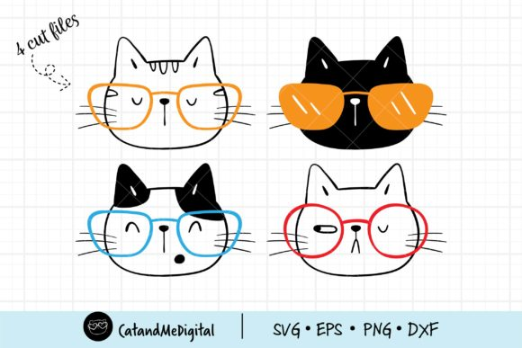 Cute Face Cat Svg Graphic Illustrations By CatAndMe