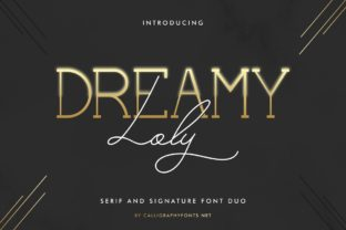 Print on Demand: Dreamy Loly Script & Handwritten Font By CalligraphyFonts