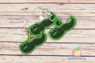 Father's Day ITH Snaptab Keyfob Father's Day Embroidery Design By embroiderydesigns101