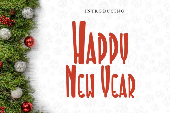 Print on Demand: Happy New Year Display Font By gunawanletter