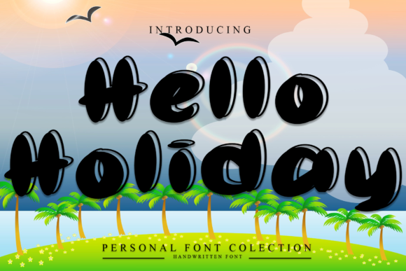 Print on Demand: Hello Holiday Display Font By dazzlinggleam