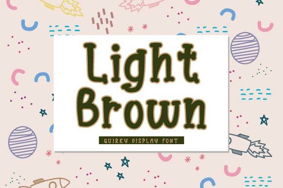 Print on Demand: Light Brown Display Font By Prioritype