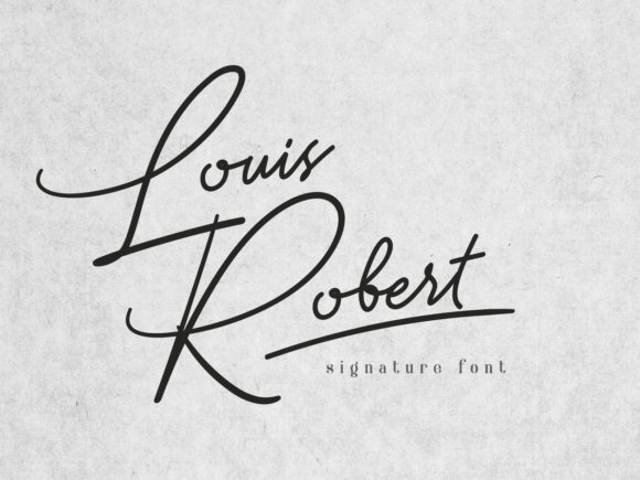 Print on Demand: Louis Robert Script & Handwritten Font By nryntdw
