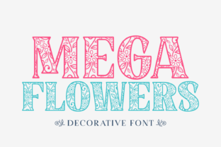 Print on Demand: Mega Flowers Decorative Font By Jasm (7NTypes)