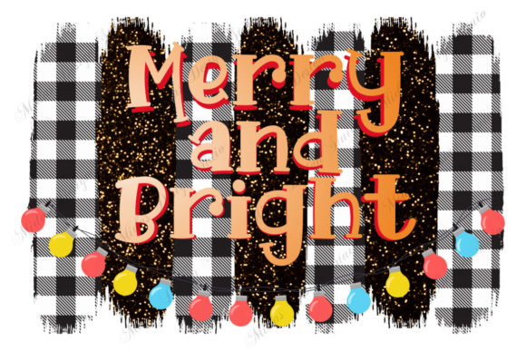 Merry and Bright Christmas Sublimation Graphic Crafts By MidasStudio
