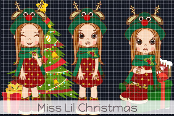 Miss Lil Christmas Graphic Illustrations By Dolls To Go