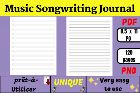 Music Songwriting Journal (KDP) Graphic KDP Interiors By Wiss_Tips designs