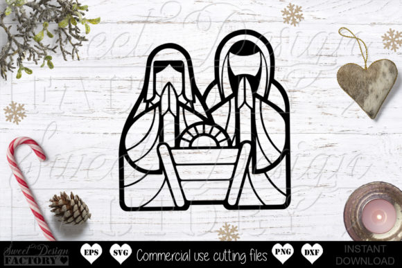 Print on Demand: Nativity Graphic Crafts By SweetDesignFactory
