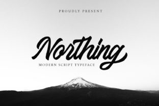 Print on Demand: Northing Script & Handwritten Font By alpapranastudio