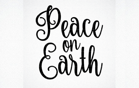 Print on Demand: Peace on Earth SVG File, Christmas SVG Graphic Crafts By SVG DEN