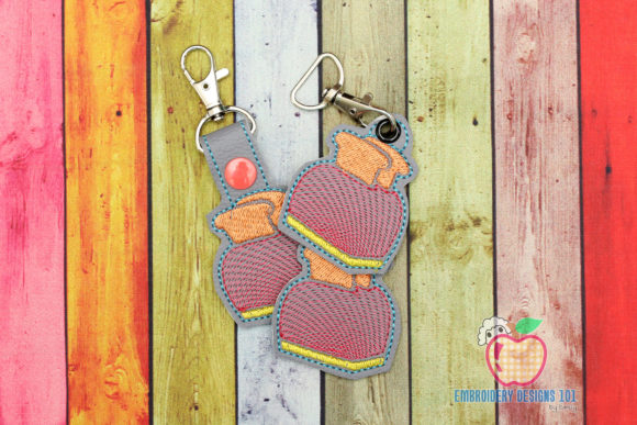 Retro Toaster Keyfob Keychain ITH Kitchen & Cooking Embroidery Design By embroiderydesigns101