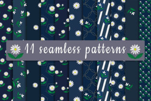 Print on Demand: Set of Seamless Patterns with Embroidere Graphic Patterns By Светлана Зиновьева